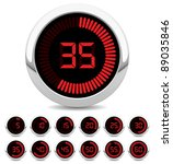digital timer | Shutterstock .eps vector #89035846