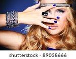 portrait of a beautiful woman....   Shutterstock . vector #89038666