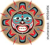 sun   native american style... | Shutterstock .eps vector #89056456