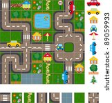 map   layout of the streets of... | Shutterstock .eps vector #89059933