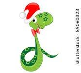 Snake Celebrating Christmas....