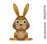 cute animal character isolated... | Shutterstock .eps vector #89064976