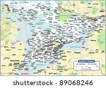southern ontario map | Shutterstock .eps vector #89068246