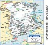 new brunswick province map | Shutterstock .eps vector #89068300