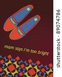 vintage shoes | Shutterstock .eps vector #89074786
