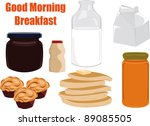 breakfast | Shutterstock .eps vector #89085505