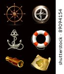marine set on black  high... | Shutterstock .eps vector #89094154