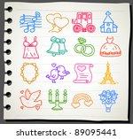 sketchbook series   love... | Shutterstock .eps vector #89095441