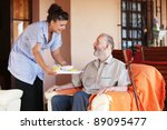 elderly and nurse or carer | Shutterstock . vector #89095477