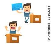 set of funny cartoon mechanic... | Shutterstock .eps vector #89103355