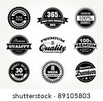 vector set of premium quality ... | Shutterstock .eps vector #89105803