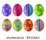 Colorful Easter Eggs Isolated...