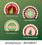 christmas label with snowflake... | Shutterstock .eps vector #89108047