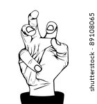 angry hand  illustration in... | Shutterstock .eps vector #89108065