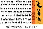 Stock vector vectr collection animals 8911117