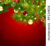 christmas garland vector image   Shutterstock .eps vector #89114836