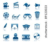 cinema and theatre icon set | Shutterstock .eps vector #89123023