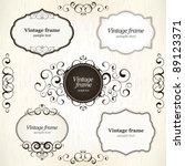 vintage labels | Shutterstock .eps vector #89123371