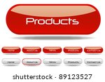 red web buttons   Shutterstock .eps vector #89123527