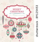 christmas background with place ... | Shutterstock .eps vector #89125453