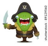 monster pirate | Shutterstock .eps vector #89129560