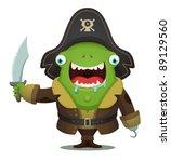 monster pirate | Shutterstock .eps vector #89129560