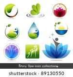 beautiful spa icon collection | Shutterstock .eps vector #89130550