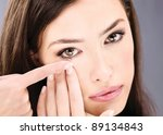 close up of a woman putting... | Shutterstock . vector #89134843