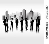 business people team in the... | Shutterstock .eps vector #89138287