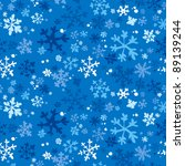 Winter seamless background with snowflakes, vector illustration - stock vector