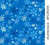 Winter seamless background, vector illustration. - stock vector
