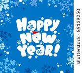 Happy new year card. - stock vector