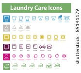 icon set of laundry symbols | Shutterstock .eps vector #89141179