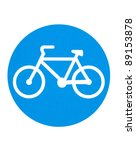 traffic sign   cycling route | Shutterstock . vector #89153878