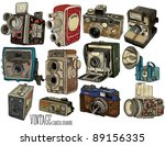 vintage camera set | Shutterstock .eps vector #89156335