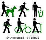 park rules carry skates and... | Shutterstock .eps vector #8915839
