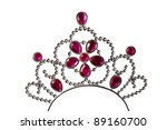children's toy crown on a white ... | Shutterstock . vector #89160700