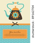 Cute Card With Teapot. Vector...