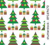 christmas tree seamless vector... | Shutterstock .eps vector #89169670