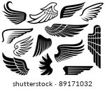 wings collection  | Shutterstock .eps vector #89171032