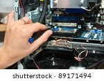 male hand   holding a precision ... | Shutterstock . vector #89171494