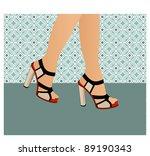 woman walking full wallpaper... | Shutterstock .eps vector #89190343
