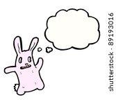 weird hollow eye bunny dancing | Shutterstock .eps vector #89193016