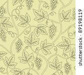 black silhouette grape branch... | Shutterstock .eps vector #89198119
