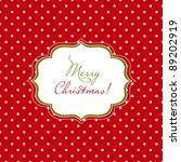 christmas red polka dot card   Shutterstock .eps vector #89202919