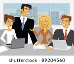 a meeting in a conference room. | Shutterstock .eps vector #89204560