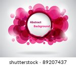 pink abstract card. vector... | Shutterstock .eps vector #89207437