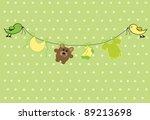 Stock vector neutral baby shower 89213698