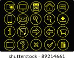 easy editing simple icon set...   Shutterstock .eps vector #89214661