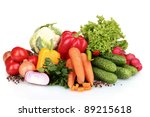 fresh vegetables isolated on... | Shutterstock . vector #89215618